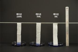 레이온100%, 레이온70%, 레이온0%